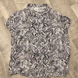 MAKE OFFER Cato Black White and Gray Womens Blouse